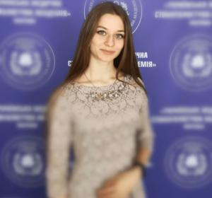 Студентка другого медичного факультету Донецького національного медичного університету Христина Великосельська