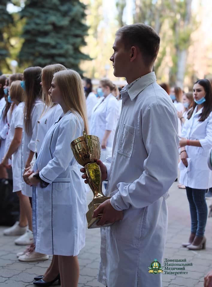 12-го вересня 2020 року посвята у студенти у ДоНМУ